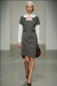 SHAME ON VIVIENNE WESTWOOD FOR NOT PUTTING ANY MODELS OVER, PROBABLY 28, IN HER RUNWAY SHOW AT FASHION WEEK IN LONDON.
