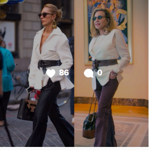 Sometimes, if you really like an outfit, you can just outright copy it.