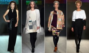 Marie Helvin leads the models at first ever Fifty Plus Fashion Week
