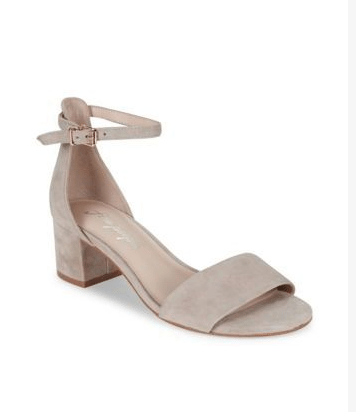 This great neutral sandal is great for mature women with it's low stacked heel.