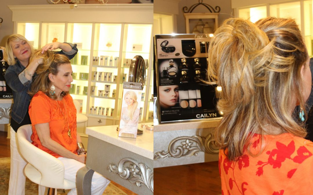 "More fun at Soft Surroundings with Hair ""Additions"" from Christie Brinkley for Hair2Wear"