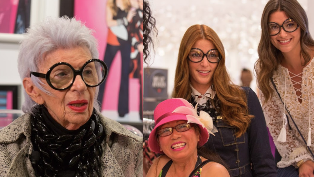 Iris Apfel in person at Macy's to celebrate her Collaboration with the brand INC.