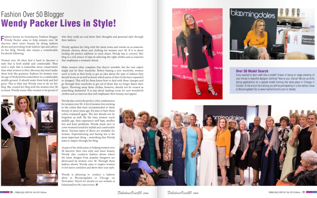 Fashion Over Fifty is Proudly Featured in Fabulous Over 50 Magazine