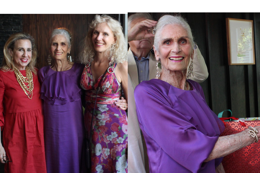 A Very Special Birthday Party for Nonagenarian Super Model, Daphne Selfe, in London!!