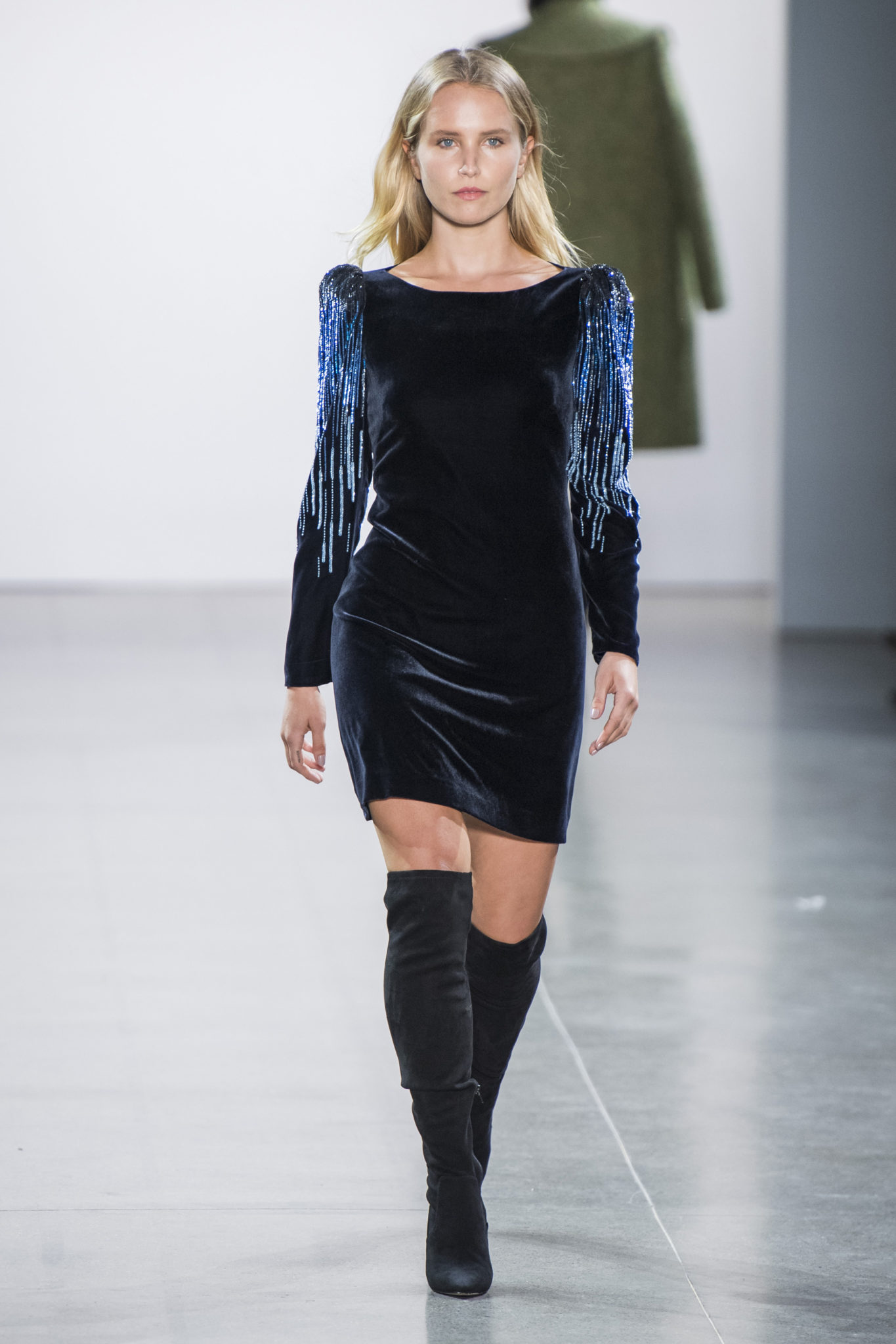 Tahari elie fall runway catalog photo
