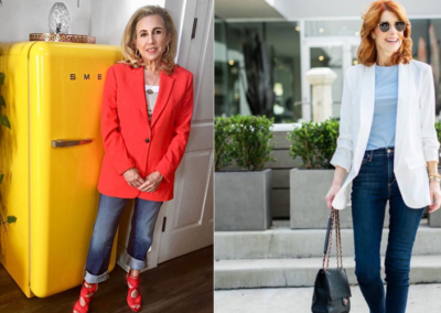 7 Jeans-and–T-Shirt Outfit Formulas Women Over 50 Swear By